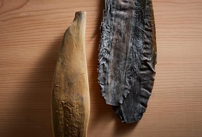 本枯鰹節と北海道南茅部産の真昆布